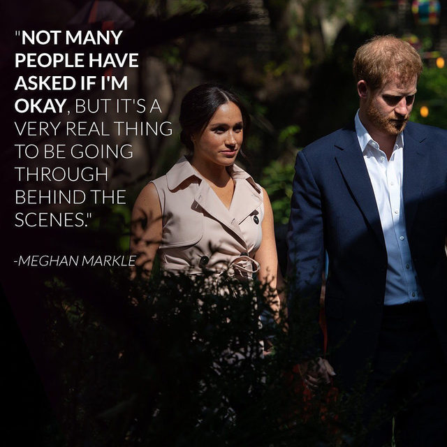 This interview just had us cancel our Friday plans to finish crying. 😢 Meghan Markle was asked for the first time by a reporter how she's handled everything and her emotional response broke our hearts. Link in bio to watch her describe the not-so-Royal side of her new life. (📷: Getty Images)