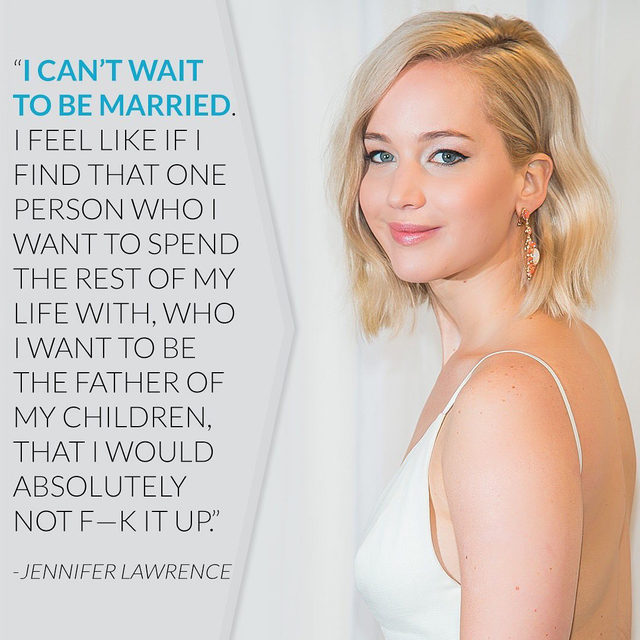 Breaking news: Jennifer Lawrence is officially married. All the details on her lavish Newport nuptuals are at the link in our bi💍! (📷: Getty Images)