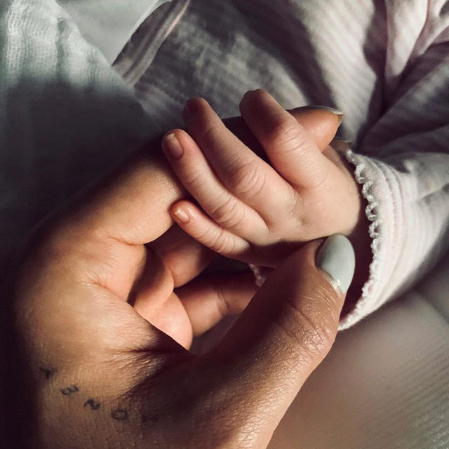 """""""Never letting go..."""" - Shay Mitchell 😍 Link in bio for more on the couple's first child. (📷: @shaymitchell)"""