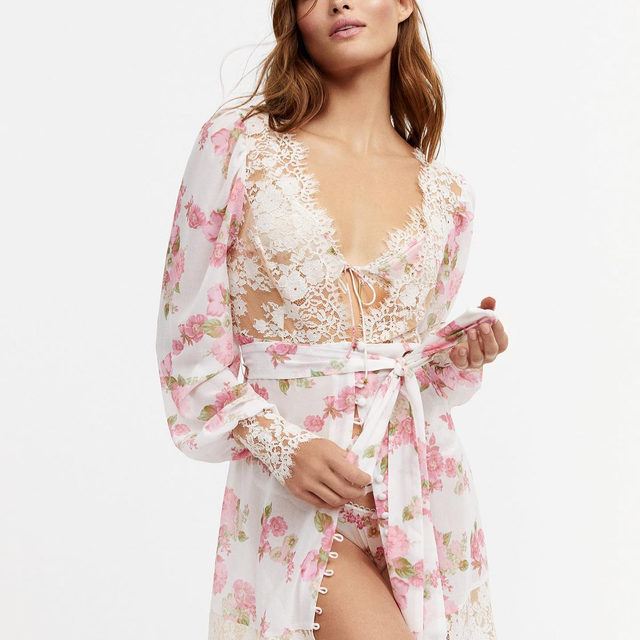 Sweet dreams are inevitable in matching Melrose Robe, Bralette and Thong  p.s. if your #FLLforVS size, color or style is sold out on our site you can find it at @victoriassecret online and in select VS stores