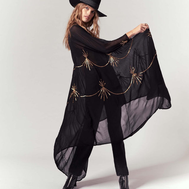 It's called the Goddess Embellished Cape for a reason. Link in bio for more styles that will get you in the spirit.