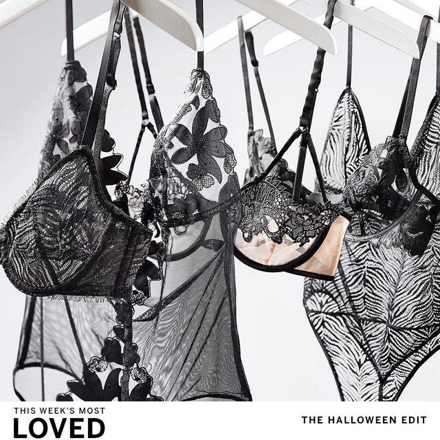 THIS WEEK'S MOST LOVED: The Halloween Edit. Embrace your dark side with bewitching lingerie to trick, treat and tempt. A black silhouette is the perfect starting point for any costume—and always spellbinding.