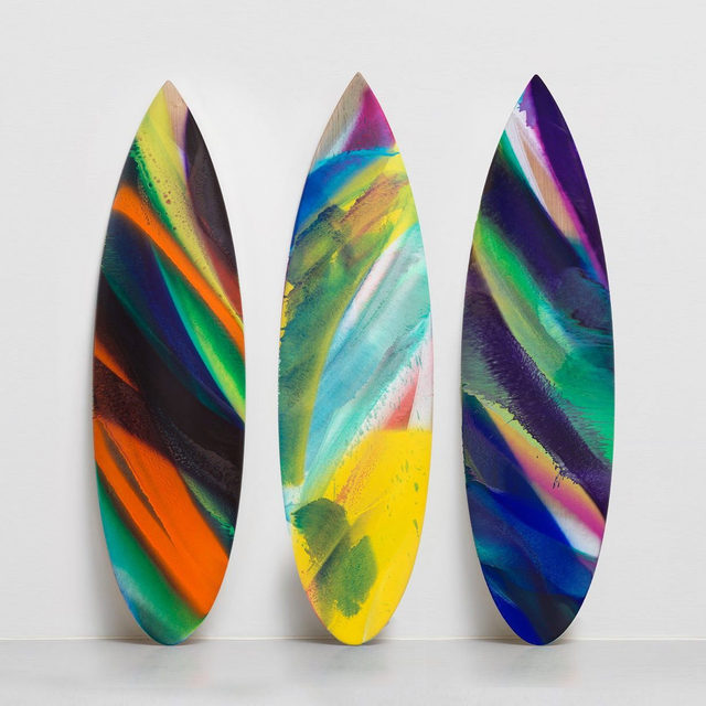 #KatharinaGrosse: Gagosian Shop is pleased to host a launch event with Katharina Grosse and Parley for the Oceans, a nonprofit environmental organization, on October 25, from 6–7pm, at Gagosian Shop, New York!  To benefit Parley for the Oceans, Grosse has produced a series of uniquely painted surfboards constructed from sustainably sourced wood—reducing foam, resin, and fiberglass use. There will be remarks by Grosse and Cyrill Gutsch, founder of Parley, and the artist's 2018 Gagosian monograph will be available for purchase. To attend the free event, RSVP to grossersvp@gagosian.com. __________ #GagosianShop #Parley #ParleyAIR @katharina_grosse @parley.tv @shopgagosian Limited-edition surfboards by Katharina Grosse, produced in collaboration with Parley for the Oceans. Artwork © Katharina Grosse and VG Bild-Kunst Bonn, 2019. Photo: Jens Ziehe
