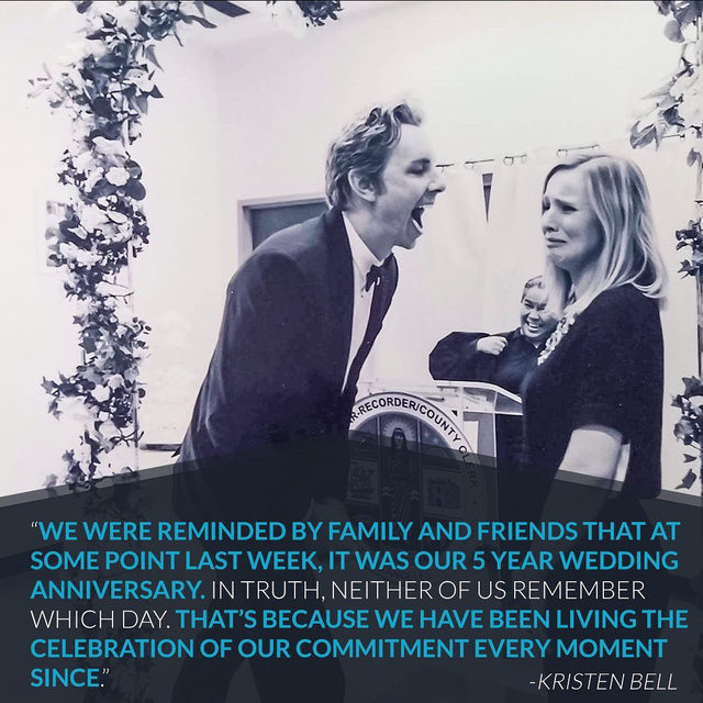 For Dax & Kristen it was never about the wedding ceremony so they got married at a courthouse and it's never been about anniversaries so they celebrate their love every day. ❤️ (📷: @kristenanniebell)