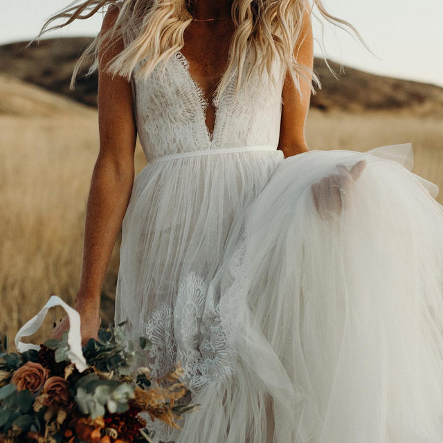 """""""The best gift you could've given her was a lifetime of adventures."""" — Lewis Carroll (Tap to shop the Betony Gown 