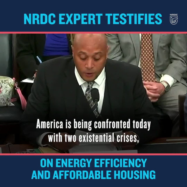 NRDC's Senior Policy Advocate Khalil Shahyd recently testified before the U.S. House Select Committee on the Climate Crisis; arguing that solutions to our #climatecrisis and affordable housing must be linked together. 🤝Increasing energy efficiency in low income housing provides just and equitable solutions to climate change, creates jobs, AND preserves the long-term affordability of homes. Read Khalil's full testimony in our profile link! - #climatechange #environmentaljustice #lowincomehousing #energyefficiency