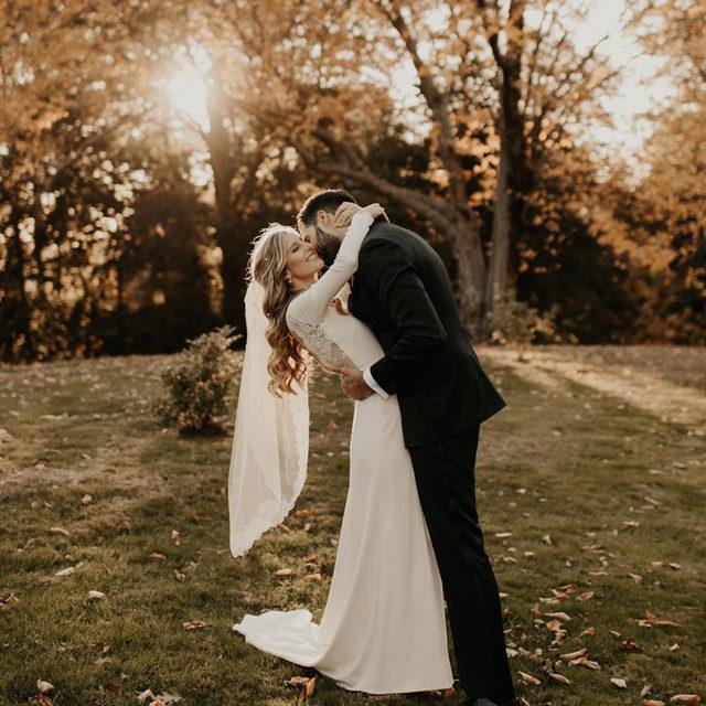 I'll always love you like the beginning 💛 (Tap to shop the Redding Gown | 📷: @annaaelizabeth 💑:@annzabonanza + @alex_lebruto)