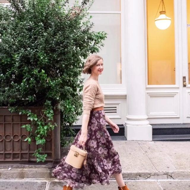 @stacieflinner struttin' in SoHo in our Perfect Zip Bootie 70 ✨ #walklikeawoman