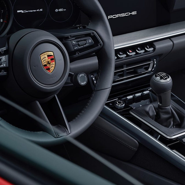 Great news! The manual 2020 Porsche 911 is finally here. Not-so-great news: a Porsche spokesperson confirmed to us the company doesn't have plans for a manual-transmission Carrera. If you want a clutch pedal, you need a Carrera S. Still, in a world where more and more sports cars are becoming auto-only, it's a welcome sight. Would you take the seven-speed stick over the dual-clutch?