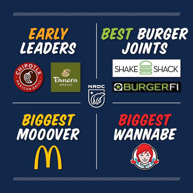 Is your favorite fast food chain addressing antibiotic overuse in its beef supplies? To find out, check out the fifth annual #ChainReaction scorecard released today by six major consumer, public health and environmental organizations (link in bio). Most top fast food chains in the U.S. lack policies that limit antibiotic use in beef, earning them poor grades—a stark contrast to the success story that has unfolded across the chicken industry as suppliers get their meat off drugs. *Experts have warned us that curbing overuse of these drugs in livestock is ESSENTIAL to combating the growing epidemic of antibiotic-resistant infections in people and animals.* 👀 Fast food chains like @wendys have to do better! 👀 @wendys @mcdonalds @chipotle @panerabread @shakeshake @burgerfi #antibiotics #fastfood #wendys #mcdonalds #chipotle #panera #shakeshack #burgerfi #beefindustry #beef #chicken #publichealth #antibioticresistance #health