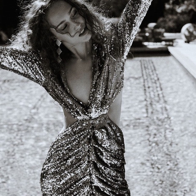 Our best advice this party season? Be in the moment | The Marais Sequin Maxi Dress  #RSVPseason #Holiday2019