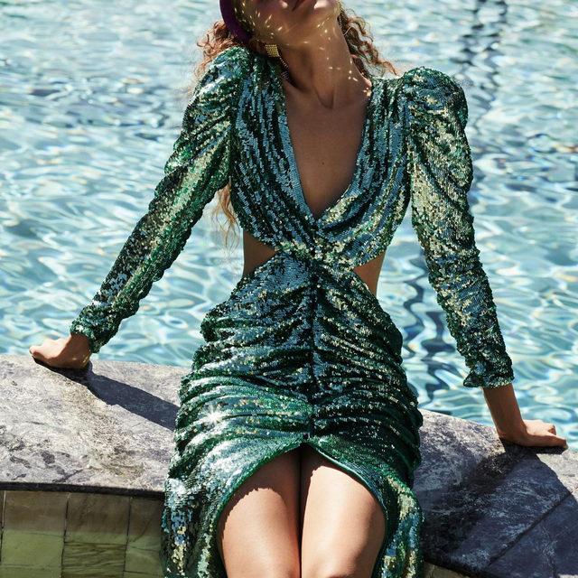 Dare to shine in the Marais Sequin Maxi Dress  #RSVPseason #Holiday2019