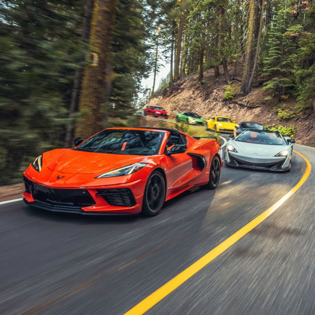 The test you've been waiting for has finally arrived. Road & Track's Performance Car of the Year 2020 is here! We had an especially strong lineup this year, ranging from the newly refreshed Mazda MX-5 Miata RF all the way to the mythical mid-engine Corvette. We started on track this year, specifically, Thunderhill Raceway in northern California. There, editor-in-chief @tokulski set lap times for each contestant, before judges were let loose to find out which car they liked the most. Brakes were cooked, tires were smoked, and lots of snacks were consumed. From the track we set out on the road, where judges carved through some of California's best mountain passes. We made our way to Lake Tahoe, where the roads could only be matched by the stunning views. After four days of seat time, we were finally ready to make our decision. Which car is your favorite out of the bunch? 📸: @puppyknuckles