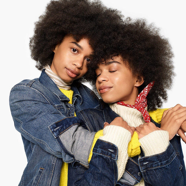 Because we look best when we're together. Tap to shop holiday favorites to gift your favorite people — so they don't have to borrow yours. #GiveGap #GapDenim