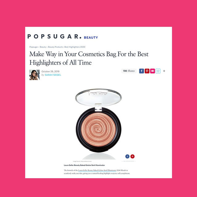 Is our Baked Gelato Swirl Illuminator currently in your cosmetics bag? ✨👀Comment below!  Thank you to @popsugarbeauty for the love. . . . #lauragellerbeauty #bakedilluminator #makeupbag #gellerglow #makeuplovers
