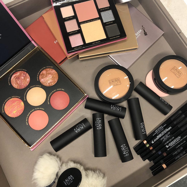 Have you shopped our products on @qvcbeauty lately? 👀 See new items that you can shop below: 💋Set of 5 Full-Face Palettes 💋Joyful Cheeks Blush and Highlighter Palette 💋Kajal 7-Piece Collection  Shop today QVC.com . . . #lauragellerbeauty #qvcbeauty #joyfulcheeks #newproductalert #eyeshadowpalettes