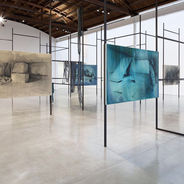 """#TatianaTrouve: An exhibition of new drawings and sculptures by Tatiana Trouvé is on view at Gagosian, Beverly Hills! """"On the Eve of Never Leaving"""" is the artist's first exhibition in Los Angeles.  In her large-scale drawings, cast and carved sculptures, and site-specific installations, Trouvé assesses the relationship between memory and material, pitting the ceaseless flow of time against the remarkable endurance of common objects. Combining fragments from both natural and constructed ecosystems, she creates hauntingly familiar realms in which forest, street, studio, and dream coalesce. Learn more via the link in our bio! __________ #Gagosian @tatianatrouve  Installation views, """"Tatiana Trouvé: On the Eve of Never Leaving,"""" Gagosian, Beverly Hills, November 1, 2019–January 11, 2020. Artwork © Tatiana Trouvé"""