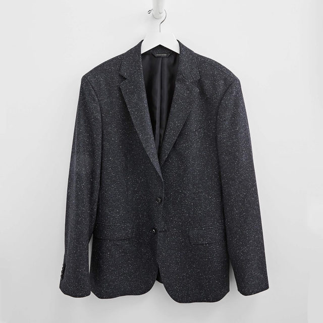 Look closely—this herringbone item blazer is out of this world 🌌