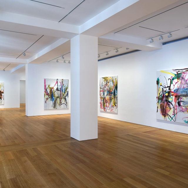 """#OehlenNewPaintings: An exhibition of new works by Albert Oehlen closes tomorrow at Gagosian, Hong Kong!  On display is a series of new paintings in watercolor on canvas. In these works, Oehlen emphasizes the importance of spontaneity within his artistic method. Diverging from his recent works created with oil or lacquer on aluminum or the aluminum composite Dibond, Oehlen's decision to use watercolor in this series marks a stylistic return to his hazy, blended, almost impressionistic oil paintings dating from 2016 and earlier. Learn more via the link in our bio. __________ #AlbertOehlen #Gagosian Installation views, """"Albert Oehlen: New Paintings,"""" Gagosian, Hong Kong, September 12–November 9, 2019. Artwork © Albert Oehlen"""