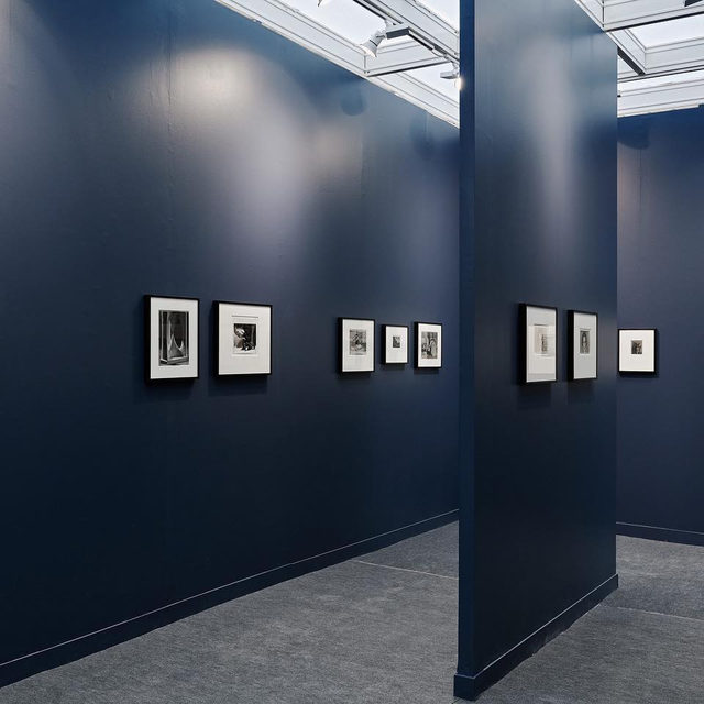 """#ParisPhotoFair: The fair is now open. Visit our booth, B16, at the Grand Palais in Paris!  Gagosian has collaborated with Galerie 1900–2000 to present a booth dedicated to Man Ray's photographs. Based in Paris for most of his life, Man Ray began photographing his friends and artistic contemporaries in captivating, simply posed compositions that capture the essence and interiority of each of his subjects. Although he worked in a wide variety of mediums across his storied career, Man Ray is perhaps best known for his expansive body of photographic works that simultaneously encompassed fashion, portraiture, and unprecedented technical experimentation.  To receive a PDF with detailed information on the works, please contact the gallery at inquire@gagosian.com. __________ #ManRay #ParisPhotoFair2019 #Gagosian @parisphotofair @galerie19002000 Installation views, """"Man Ray: Paris Photo 2019,"""" Grand Palais, Paris, November 7–10, 2019. Artwork © Man Ray Trust/ADAGP 2019. Photos: @lannes.thomas"""