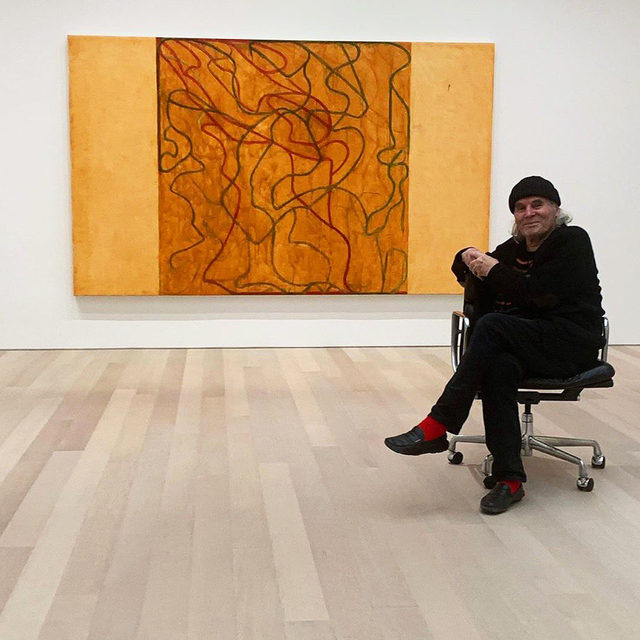 """#BriceMarden: An exhibition of new paintings and drawings by Brice Marden, opens tomorrow, November 9, at Gagosian, 980 Madison Avenue, New York.  These works continue Marden's """"Letter"""" series, in which networks of calligraphic lines and strokes weave through fields of color and tone. Six paintings, each measuring six feet tall by ten feet wide, were made in Tivoli—the location of Marden's upstate New York home and studio—where the seasonal changes of the surrounding Northeastern landscape and light frequently influence his use of color. Learn more via the link in our bio! __________ #Gagosian #Repost: @goldenrock"""