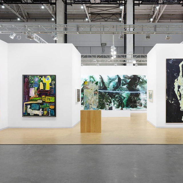 """#WestBundArtandDesign: The fair opens today! Visit Gagosian's booth, A121, at the West Bund Art Center in Shanghai.  For this year's West Bund Art & Design, Gagosian is presenting works by Georg Baselitz, Joe Bradley, Urs Fischer, Helen Frankenthaler, Mark Grotjahn, Damien Hirst, Thomas Houseago, Robert Indiana, Jeff Koons, Joan Mitchell, Nam June Paik, Richard Prince, Sterling Ruby, Ed Ruscha, Mark Tansey, Mary Weatherford, Tom Wesselmann, and Jonas Wood, among others!  To receive a PDF with detailed information on the works, please contact the gallery at inquire@gagosian.com. ___________ #WestBundArtFair #Gagosian @westbundartfair Installation views, """"West Bund Art & Design 2019,"""" West Bund Art Center, Shanghai, November 8–10, 2019, booth A121. All artworks copyrighted"""