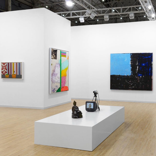 """#WestBundArtandDesign: Stop by our booth, A121, at West Bund Art & Design before the fair closes today, November 10! To receive a PDF with detailed information on the works, please contact the gallery at inquire@gagosian.com. ___________ #WestBundArtFair #Gagosian @westbundartfair Installation views, """"West Bund Art & Design 2019,"""" West Bund Art Center, Shanghai, November 8–10, 2019, booth A121. All artworks copyrighted"""