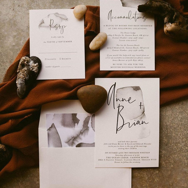 "Natural Beauty - ""Moxie"" wedding suite by @designlotus — Photo by @alexisnicolephotography • • • • • #engaged #weddingideas #weddinginspiration #weddingdetails #weddingphotography #weddingplanning #weddingflatlay #justengaged #thatsdarling #pursuepretty #theknot #sayido #howtheyasked #marthaweddings #weddinginvitation #invitationdesign #flatlay #fallwedding #winterwedding #destinationwedding #design #style #art #diy #wedding"