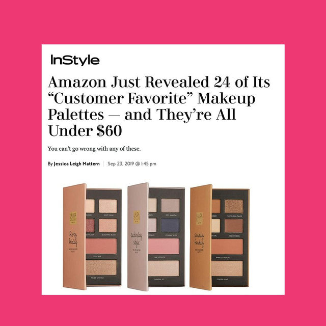 Meet The Weekender 😍✨ Your go-to palettes for face, eye and cheek.  Shop today on laurageller.com!  Thank you to @instyle for the love. . . . #lauragellerbeauty #makeuppalettes #instylemagazine #eyeshadowpalettes #theweekender