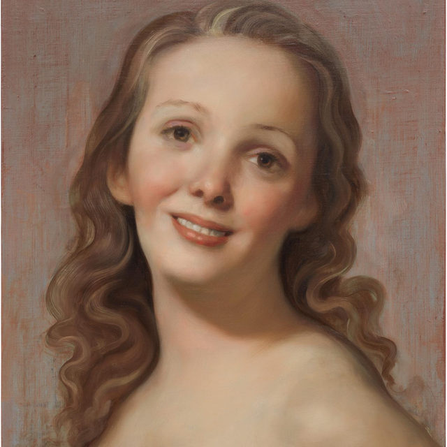 """#JohnCurrin: """"There's a kind of a distortion that happens with adoration."""" —John Currin  Gagosian Hong Kong is pleased to present new portraits by John Currin, opening on Tuesday, November 26. This is his first solo exhibition in Hong Kong and his first exhibition in Asia.  Conflating inspirative sources of high and low culture, from old masters to soft-porn pinups, Currin channels his prodigious painterly skills into idealized yet perverse images that both charm and challenge. In a series of new portraits, Currin returns to his most beloved subject: women. These latest paintings demonstrate some persistent themes in Currin's oeuvre, as well as a deep exploration of the genre of female portraiture. Characteristically, these women often appear as half-real, half-imagined, as though only part of the artist's subject were held up to a distorting mirror, with the rest left intact. Learn more via the link in our bio! __________ #Gagosian  John Currin, """"Untitled,"""" 2019 © John Currin"""