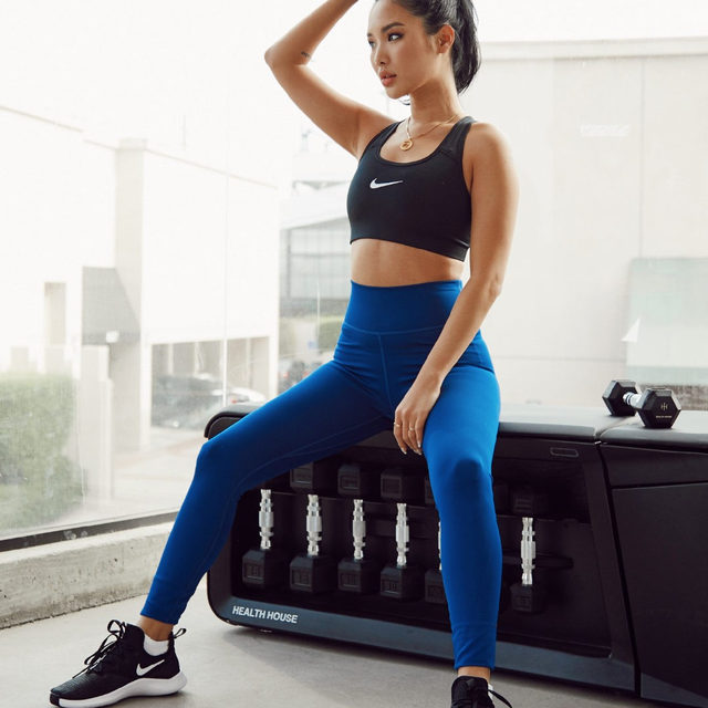 check out @chaileeson in the @nikewomen swoosh bra + the one tight ✔️ link in bio to shop her look now #NIKExREVOLVE