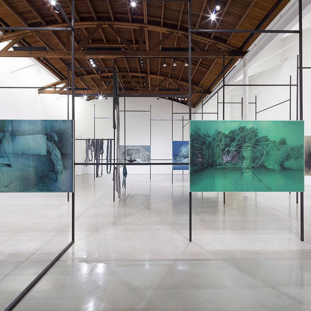 """#TatianaTrouve: Visit """"On the Eve of Never Leaving,"""" an exhibition featuring new drawings and sculptures by Tatiana Trouvé at Gagosian, Beverly Hills!  The exhibition includes new drawings from two related series—""""Les dessouvenus"""" (2013–) and """"The Great Atlas of Disorientation"""" (2019–)—installed in a metal armature that itself functions as a linear drawing through space. Learn more via the link in our bio. __________ #Gagosian @tatianatrouve Installation views, """"Tatiana Trouvé: On the Eve of Never Leaving,"""" Gagosian, Beverly Hills, November 1, 2019–January 11, 2020. Artwork © Tatiana Trouvé"""