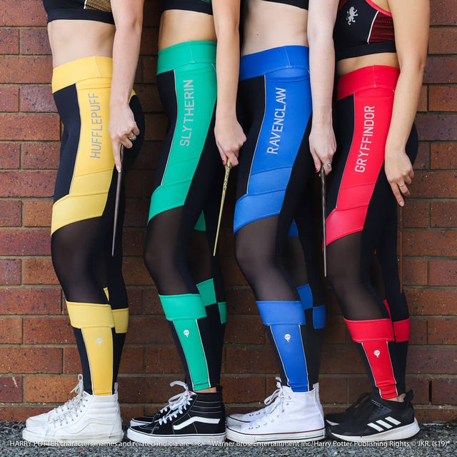 Which house are you? See our full Harry Potter range on our website #HarryPotter #blackmilkactive #blackmilkclothing #HarryPotter #blackmilkclothing #blackmilk #blackmilkactive #bmhufflepuffsplicedninjapants #bmslytherinsplicedninjapants #bmravenclawsplicedninjapants #bmgryffindorsplicedninjapants
