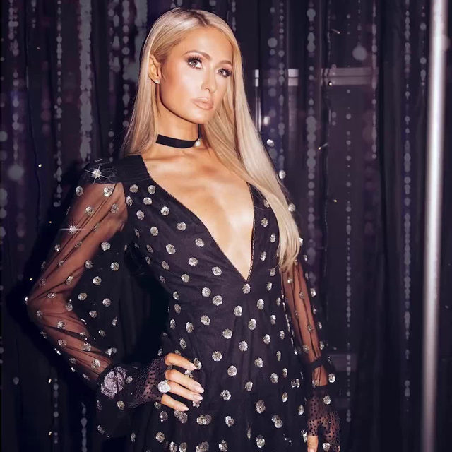 ooooh girl THAT'S HOT ✨🔥@parishilton in the @itsnbd victoire embellished dress #REVOLVEawards - link in bio to shop!