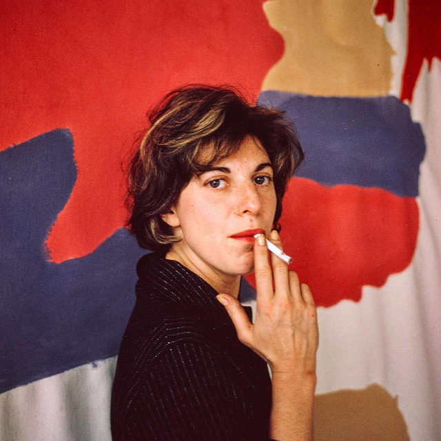"""""""Recording Artists: Radical Women"""" is a new podcast produced by the Getty, exploring the lives and work of six women artists spanning multiple generations.  Hosted by curator Helen Molesworth, the podcast draws on rare audio interviews from the 1960s and '70s from the archives of the Getty Research Institute and includes an episode on Helen Frankenthaler and another on Eva Hesse, including commentary by Mary Weatherford. Follow the link in our bio to listen now!  __________ #HelenFrankenthaler #MaryWeatherford #EvaHesse #GettyMuseum #Gagosian @gettymuseum @hmolesworth Helen Frankenthaler in her East 83rd Street and Third Avenue studio, New York, April 1964, Alexander Liberman. Getty Research Institute, 2000.R.19 (b.28, 184-185) © J. Paul Getty Trust"""