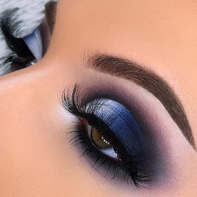 We're feeling a little festive this year with our #BreakTraditions theme. 🔔  Loving this royal blue smokey eye by @bydanielleathena - she paired this look with our Fluff'n Glam lashes in the style SHE-E-O 💙  Our Fluff'n Glam collection is available exclusively at @sephora - Tap to shop the look!  #VelourLashes #VelourBeauty #LiveInLashes #VelourxSephora #FluffnGlam