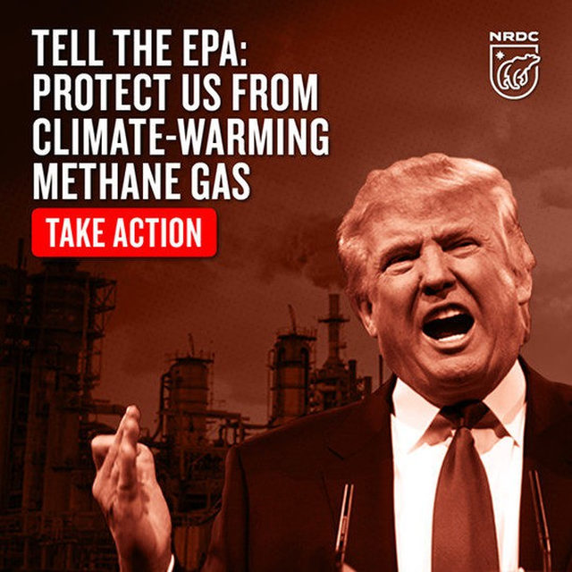 President Trump and EPA Administrator Andrew Wheeler are, yet again, attacking regulations that stop the oil and gas industries from releasing massive amounts of methane gas. It's a blatant giveaway to their fossil fuel allies at the expense of the American people, our clean air, our health, and the future of our planet. 😡 BUT it's not too late to raise your voice to fight back! 🗣There's a public comment period that ends this coming Monday, November 25th. 📣 Head to the link in our bio to add your voice! [Trump photo: Gage Skidmore] - #methane #climatechange #science #greenhousegas