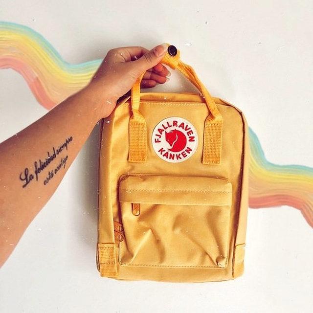 For the VSCO girl in your life. 🌈 Tap our Shop highlight to shop Fjallraven Kanken backpacks. (📸: @dandelionposh)