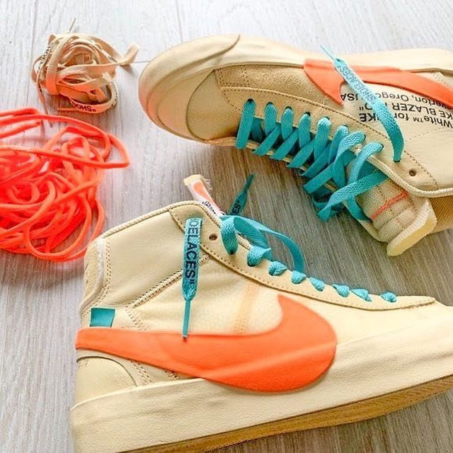 Kick it in these Nike Blazer Mid Off-White's. 👟 Tap our Shop highlight to snag a pair.