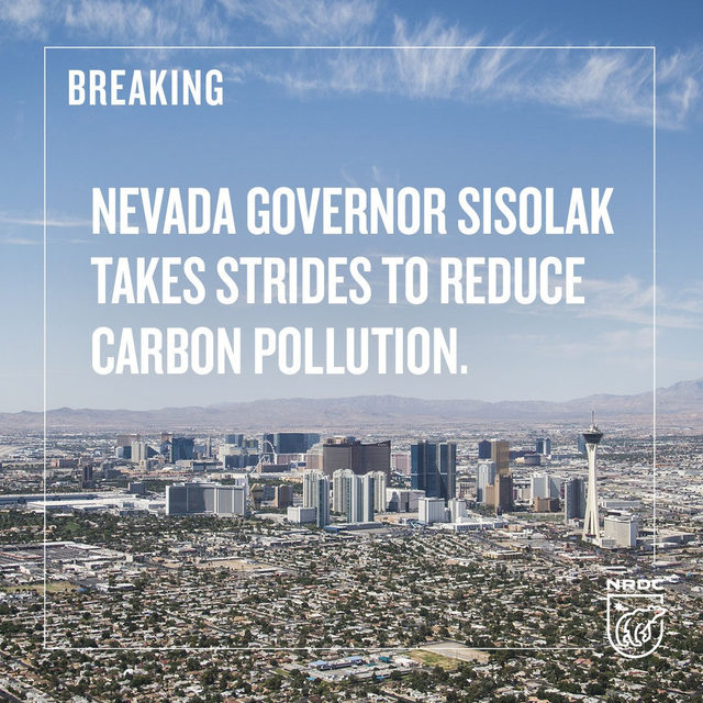 Great news! Today, Nevada's Governor Sisolak signed an executive order committing to reduce carbon pollution in NV and work towards an equitable and inclusive transition to a carbon neutral, clean energy economy. 🙌Governor Sisolak is blazing a path for other states looking to go green while the federal government is dragging their feet. - #NVGov #ActOnClimate #CleanCars #NVLeg #CleanEnergy #ElectricVehicles