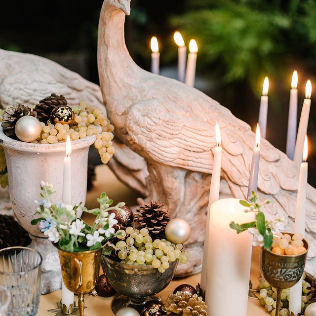 Pine cones and grapes and peacocks, oh my! 🧡 💯@rydersloanevents making us wish the holidays would never leave 😍 With our #velvetlinen in Tamarind 📷 @melanieduerkopp With @frances_lane @stablecafe #latavolalinen #transformyourtable #velvet #orange #fruitonthetable #holidaydecor #pinecones #velvettablecloth #dinnertable #putabirdonit #tablescape #holidaytable #sanfrancisco #bayarea #sanfranciscowedding #eventplanning #eventdesign
