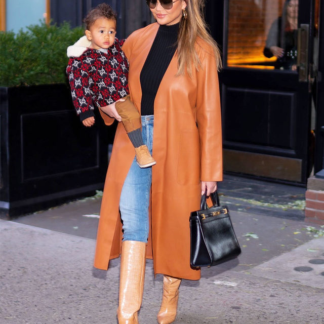 According to @chrissyteigen, motherhood has definitely changed her everyday fashion choices. Link in bio to shop her new fall essentials.
