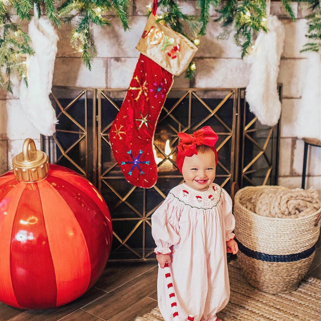 Raise your hand if you are a decorate for Christmas before Thanksgiving kinda family? 🙋🏻‍♀️ It's almost Thanksgiving and we can't stay away from all of this holiday cuteness.  Our Father Christmas Bishop Bubble is in stock and our site is BOGO thru Monday 🙌 | @vandifair