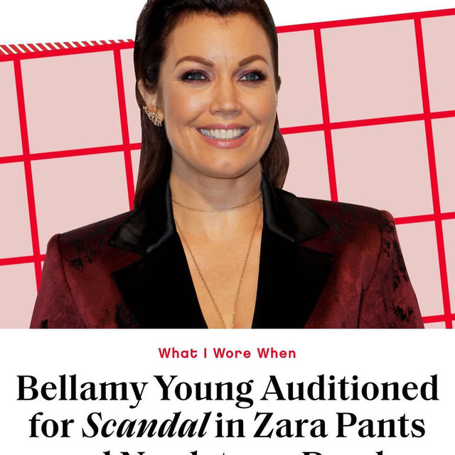 On 'Scandal,' @bellamyyoung's character, Mellie Grant, went from scorned first lady to president of the United States and—as you'll learn in 'What I Wore When'—she might have a last-minute outfit to thank. Link in bio to listen and subscribe to Glamour's latest podcast, hosted by Digital Director @perriesamotin.