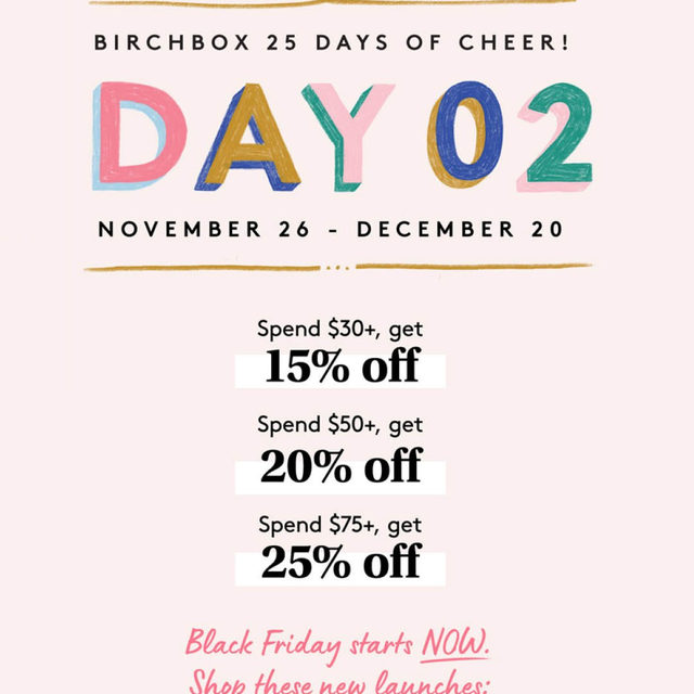 It's Day 2 of the 25 Days of Cheer and Black Friday discounts are LIVE. Let's do this.
