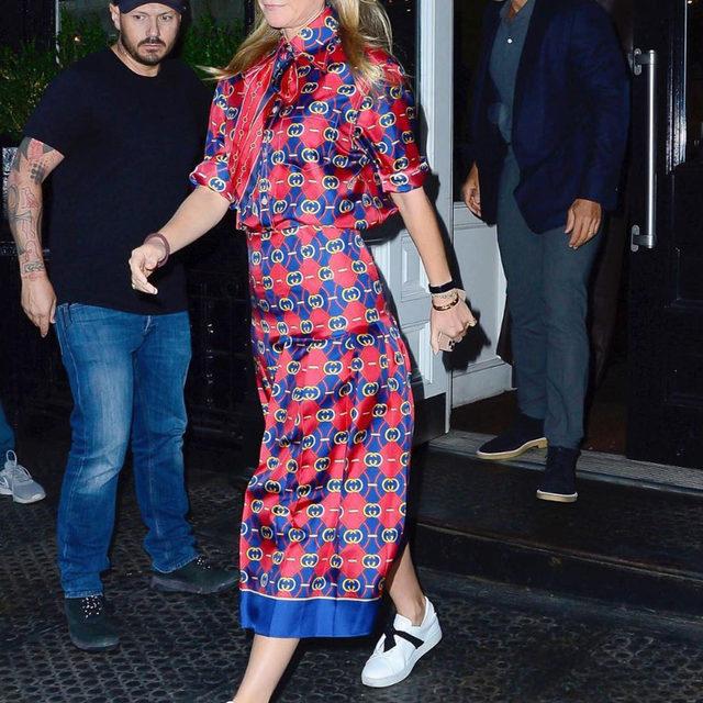 @gwynethpaltrow wears the Clarita sneaker with a signature black bow. #AlexandreBirman #Sneaker