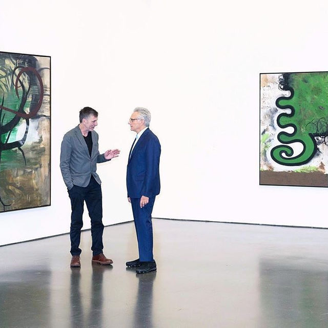"""""""Carroll Dunham / Albert Oehlen: Bäume / Trees"""" is now on view at the Kunsthalle Düsseldorf in Germany!  Within their individual self-imposed parameters Carroll Dunham and Albert Oehlen continually test the possibilities of painting, experimenting with techniques, surfaces, and structures in an independent manner. Nowhere is this more evident than in regard to the subject of trees, which both artists have repeatedly included in their work and interpreted in their own ways. This exhibition brings together large-scale paintings alongside drawings, etchings, and monotypes by both painters in which they explore the arboreal themes in their radically independent pictorial languages. Learn more via the link in our bio.  __________ #AlbertOehlen #CarrollDunham #KunsthalleDusseldorf #Repost @kunsthalleduesseldorf Photo: @onetouchnilsone"""