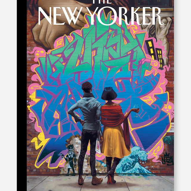 "On @kadirnelson's cover, ""Art Connoisseurs,"" Nelson presents two onlookers struck, in passing, by a splash of graffiti. ""I've been thinking about the history of fine art and its ever-expanding boundaries, from the early Egyptians to Banksy, and contemplating what defines fine art and where it's going next,"" Nelson says. Tap the link in our bio to learn more. #TNYcovers"