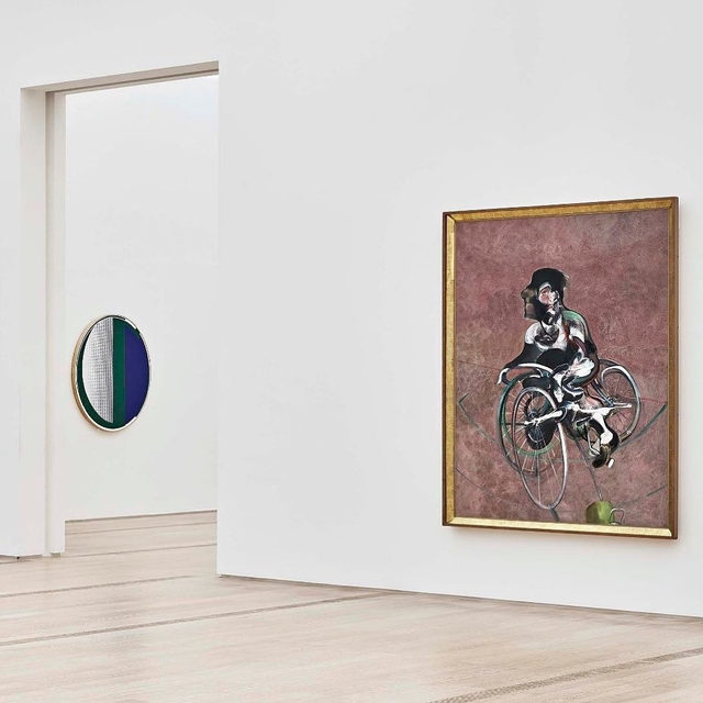 """Work by Francis Bacon is on view in """"Collection Beyeler / Collection Rudolf Staechelin"""" at the Fondation Beyeler, Riehen/Basel, through January 2020. Paintings from the Rudolf Staechelin Collection are presented alongside selected related works from the Beyeler Collection.  Head to """"Gagosian Quarterly"""" to watch a video about the exhibition """"Francis Bacon: Couplings,"""" presented earlier this year at Gagosian, London. Richard Calvocoressi provides an in-depth view of the exhibition, examining a theme that preoccupied the artist throughout his career: the relationship between two people, both physical and psychological. Follow the link in our bio to watch the video.  __________ #FrancisBacon #Gagosian  #Repost: @fondationbeyeler"""