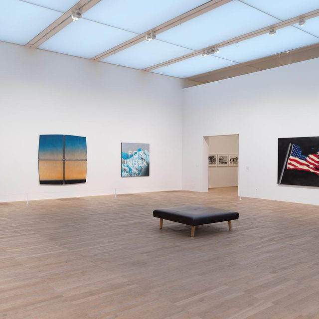 """Visit London's Tate Modern to see """"Artist Rooms: Ed Ruscha,"""" currently on view through April 2020.  This display reflects the range of Ruscha's practice, including paintings, prints, and photographic books, through artworks spanning sixty years of the artist's career. Full of irony and humor, his works can often be interpreted as commentaries on American society. Find out more via the link in our bio.  ___________ #EdRuscha #Gagosian #TateModern @tate Installation views, """"Artist Rooms: Ed Ruscha,"""" Tate Modern, London, July 26, 2019–April 19, 2020. Artwork © Ed Ruscha. Photos: Oliver Cowling"""